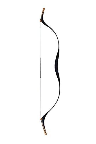 Huntingdoor Pure Handmade Snake-skin Mongol Style Hunting Longbow Archery Recurve Bow Black 30-60LBS 60 LB