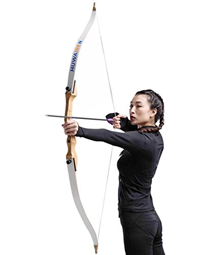 Toparchery Takedown Recurve Bow 54 Wood Longbow Archery Target Hunting Larp CS Game Beginner Women Youth Bow Right Hand