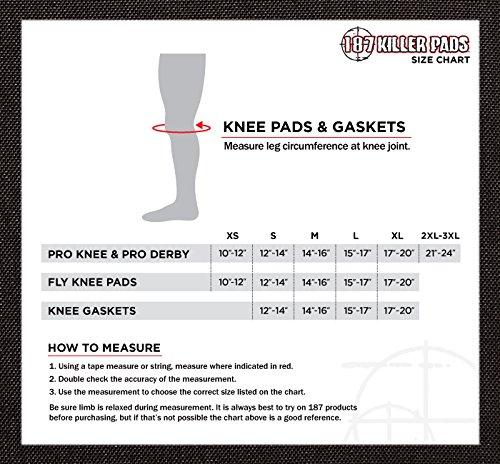 187 Killer Fly Knee Pads - Black - Large