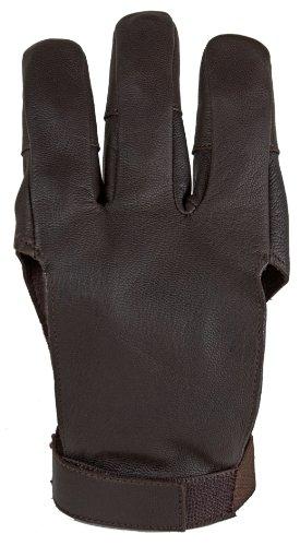 Damascus DWC Archery Shooting Glove Three Finger Design Fits Either Hand Velcro Strap Medium
