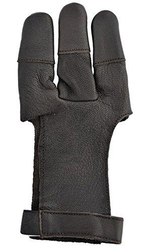 GPP Archery Shooting Glove Three Finger Design Fits Either Hand Velcro Strap Medium