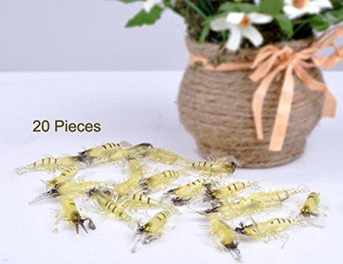 Etuoji 20 PCS Bait Soft Plastic Prawn Shrimp Fishing Lure shrimp Lure Fish Smell