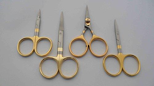 4 count Fly tying scissors set Arrow point Iris Hair Razor scissors