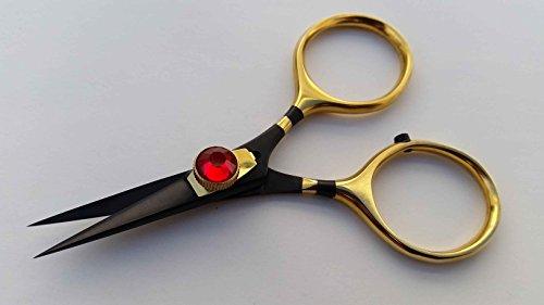 Fly tying Razor scissor 4 BnG Super sharp blades Red Gem stone tension knob