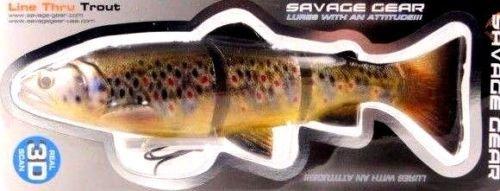 Savage Gear 3D Pro Series Line Thru Trout Swimbait Slow Sinking Photo Brown Trout 8