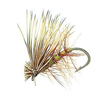 Elk Hair Caddis Olive Fly Fishing Flies 1 dozen flies 18