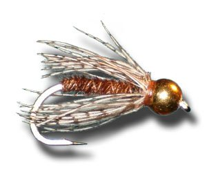 BH Pheasant Tail Soft Hackle Fly Fishing Fly - Size 20 - 12 Pack