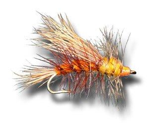 Stimulator - Orange Fly Fishing Fly - Size 14 - 3 Pack