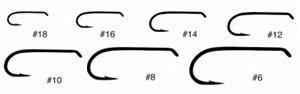 Tiemco TMC 3761 Standard Wet Fly Hook - 25 hooks - size 12
