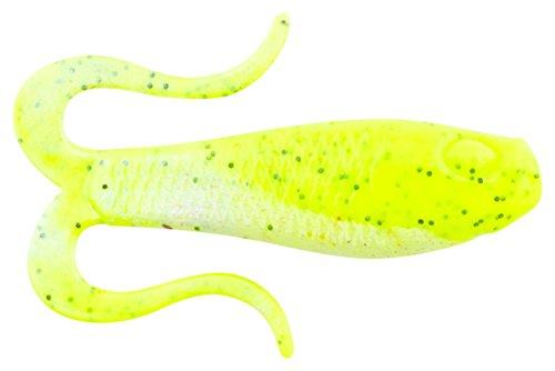Berkley Gulp Double Tail Swimming Mullet Chartreuse Pepper Neon Fishing Bait Multi 3  8cm