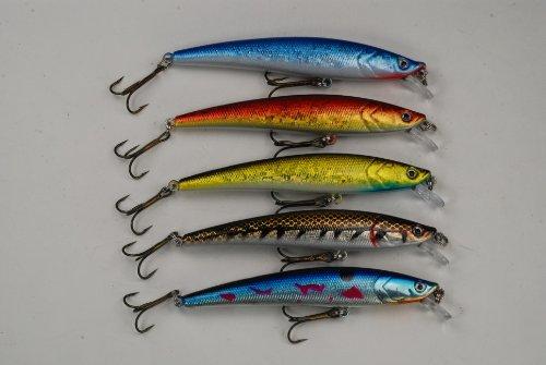 Akuna Pack of 5 Magic Minnow Series 43 inch Topwater Fishing Lure BP 5 FLA 34 C