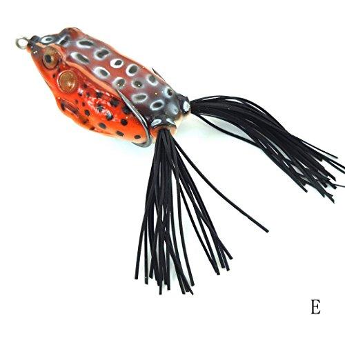 Aorace 1pcs Lifelike Topwater Frog Fishing Lure Crankbait Hooks Bass Soft Lure Bait Tackle 24-6cm047oz-134g