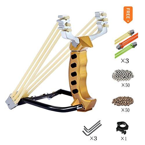 KAINOKAI Hunting SlingshotHeavy Duty Wrist Rocket Slingshot Sling Shot for Adult Outdoor Catapult Slingshot Set