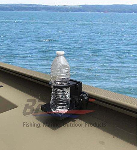Brocraft Folding Cup Holder For Tracker Boat Versatrack System 90 Degree Lund Sport Track---Black