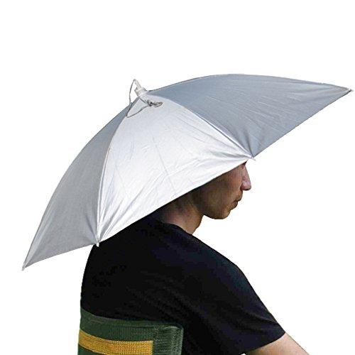 Luwint 26 Diameter Sun Rain Headwear Umbrella Hat Cap for Fishing Gardening