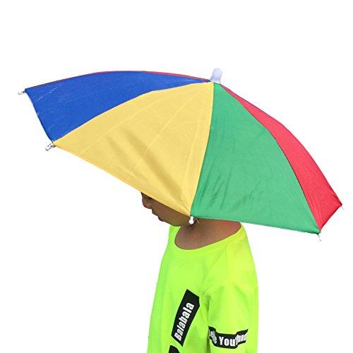 YOBAYE Usefull Rainbow Umbrella Hat 13Sun Shade Camping Fishing Hiking Festivals Outdoor Brolly