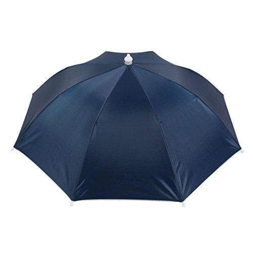 uxcell Black Elastic Headband Hands Free Polyester Shell Fishing Umbrella Hat