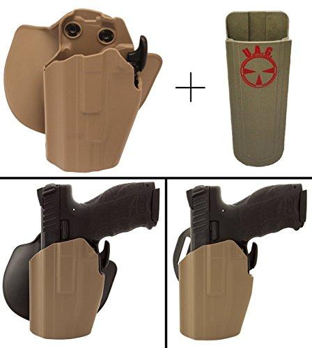 Safariland Rogers Holster 1911 PARA ORDNANCE ED BROWN Pro-Fit 578-683-552 7TS GLS Long Frame Multi-Fit Paddle Belt Left Hand Flat Dark Earth  Ultimate Arms 9mm4045 Mag Holder