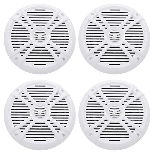 4 Rockville RMSTS80W 8 2000 Watt Waterproof Marine Boat Speakers 2-Way White
