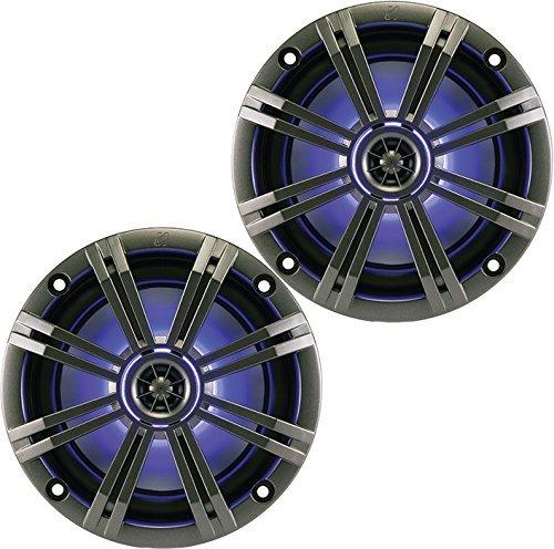 New 41KM84LCW 8 300 Watt 4-Ohm LED Marine Audio Coaxial Speakers Stereo KM8