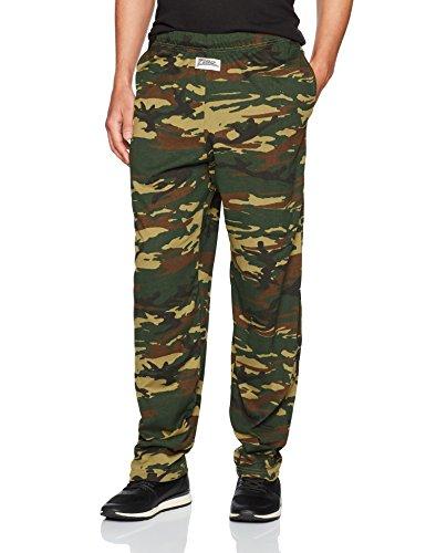 Zubaz Mens Camo Printed Athletic Lounge Pants Hunter Camo L