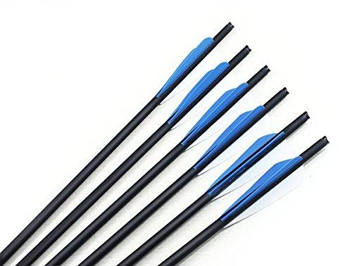 Bcslinek Archery Carbon Crossbow Bolts 20-Inch Archery Crossbolt Arrows with Field Points24 Pack