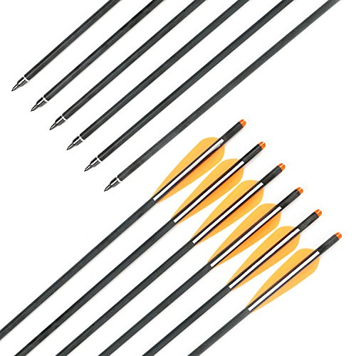 Crossbow Bolts Hunting Carbon Hunting Carbon Archery Arrow 18 Inch With Replaceable arrow tips 4 Inch Plastic VanesCT00912PCS