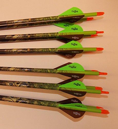 Gold Tip Expedition Hunter 5575 Carbon Arrows wBlazer Vanes Mossy Oak Wraps 1Dz