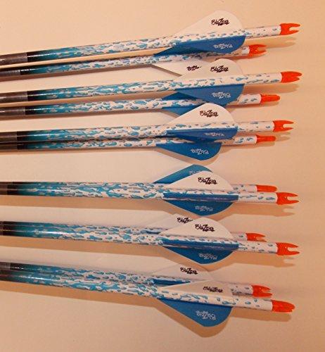 Gold Tip XT Hunter 5575400 Carbon Arrows wBlazer Vanes Rain Wraps 1Dz