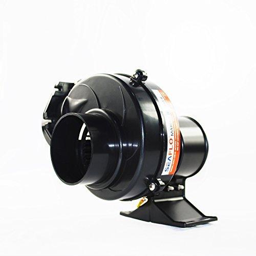 Seaflo In Line Bilge Air Blower 130CFM Boat Black Ventilation Marine 12V 25AMP