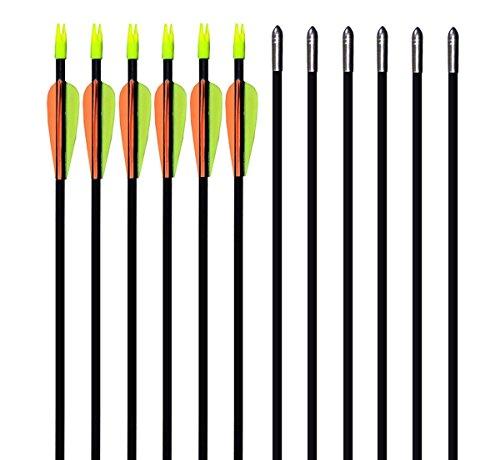 GPP 28 Fiberglass Archery Target Arrows - Practice Arrow or Youth Arrow for Recurve Bow