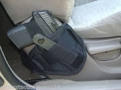 Car Truck Vehicle Seat Holster Fits Medium to Large Frame Hand Gun Glock 17-23Taurus459MM1911