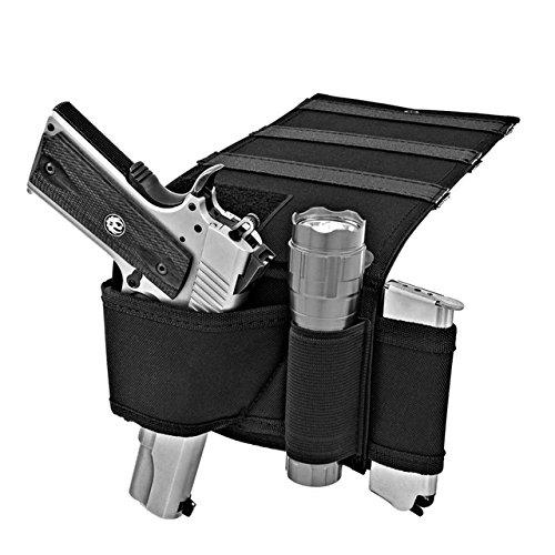 NIANPU Car Seat Pistol Gun HolsterHandgun HolderUnder Bed Airgun Case with Magazine Pouch Bag