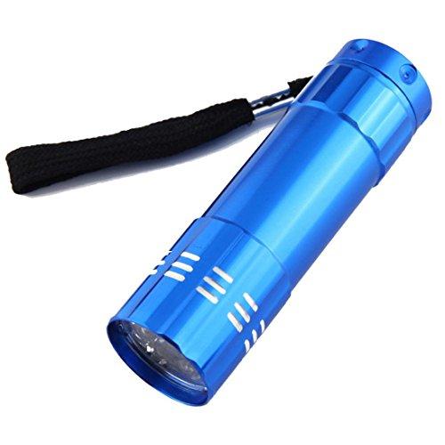 Hunting Lamp Dacawin Aluminum UV Ultra Violet 9 LED Flashlight Torch Light Lamp Blue