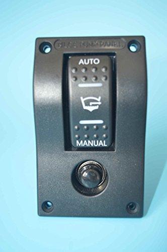 Amarine-made PN-AB1-4 12v Deluxe LED Rocker Bilge Pump Switch Panel Circuit Breaker - AutoOffMan PN-AB1-4