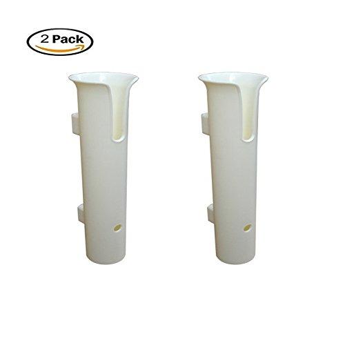 2pcs Plastic Fishing Rod Holder White Boat Stand-Off Fishing Rod Holder-No Hardware 2