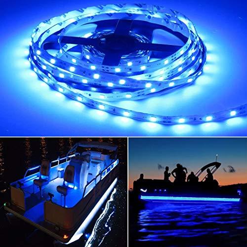 Seapon Pontoon Boat Light Marine Led Light Strip for Duck Jon Bass Boat Sailboat Kayak Led Flex Lighting for Boat Deck Light Accent Light Courtesy Interior Lights Fishing Night 12v 5m164ft