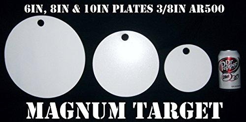 6 8 10in PistolRifle Targets - AR500 Steel Targets - 3pc Metal Target Set