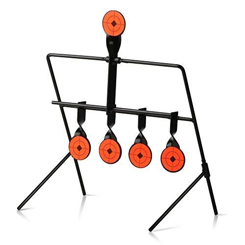go2buy 5 Targets Self Resetting Spinning Air Gun Rifle Shooting Metal Target Set
