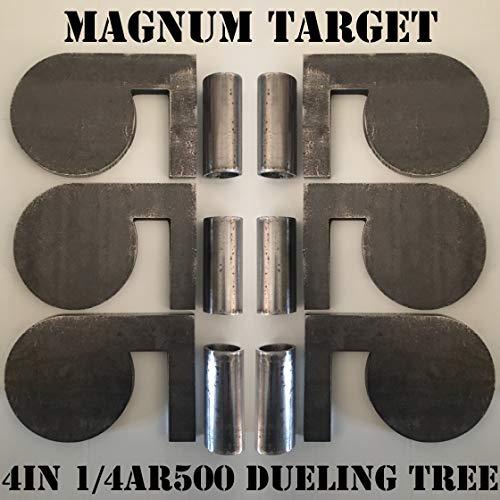 4 x 14 AR500 Steel Shooting Range Targets Dueling Trees Metal Paddles wTubes