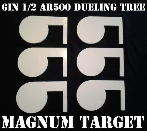 6in 12in AR500 Steel Shooting Range Targets - Dueling Trees - Metal Paddles