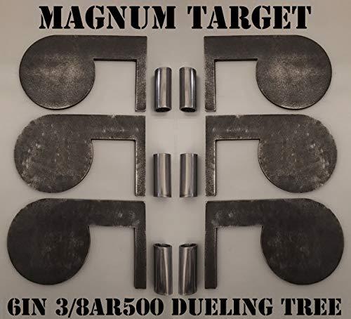 6in 38in AR500 Steel Shooting Range Targets - Metal Dueling Trees wTubes