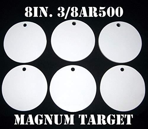 8in AR500 Shooting Targets - 38Thk PistolRifle Targets - 6pc Steel Target Set