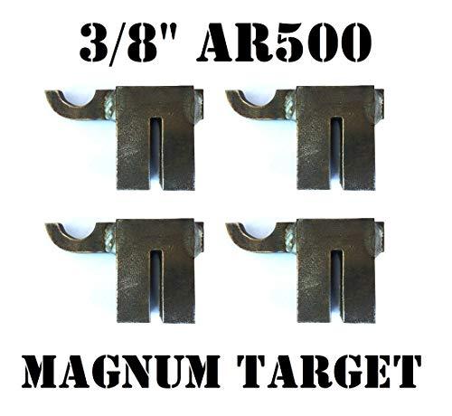 Steel Shooting Targets AR500 Hardened T-Post Hook-4pc NRA Metal Gong Range Target