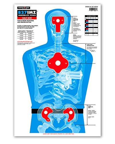 B27-IMZ Human Silhouette Paper Shooting Targets 125x19 25 pack