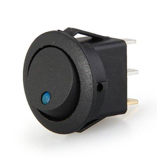 Rocker Switch - TOOGOOR12V LED Inverter Rocking Rocker Switch ROUND SPST ON-OFF for BOAT Car blue