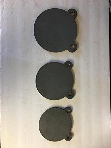38 AR500 8 7 6 DIAMETER STEEL GONG TARGET SET From Bullseye Metals