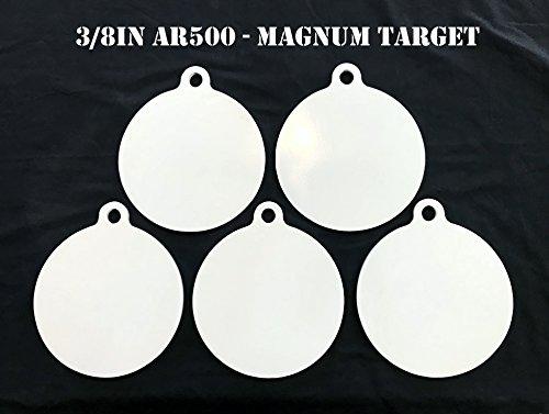 8 Inch Dia AR500 Steel Gong Targets-Steel Shooting Targets-Metal Targets-5pc