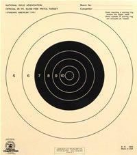 25 Yard Slow Fire Pistol Target Official NRA Target B-16 50x