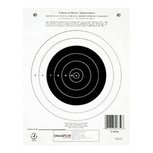 Champion NRA Paper GTQ-31 50-yard Single Bullseye Target Pack of 12